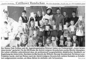 Presse LLLL-Projekt Lausitzer Rundschau 27-09-2009